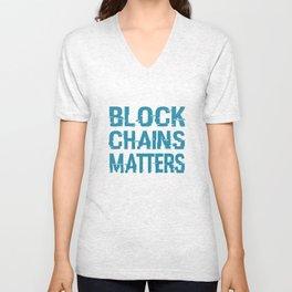 Blockchain Matters Movement Unisex V-Neck