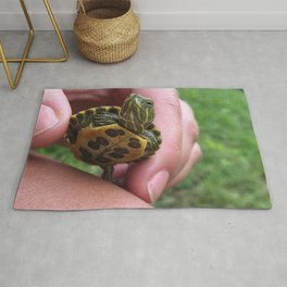 Baby red-eared slider turtle Rug
