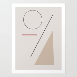 a series of shapes #1 Art Print