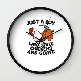 Just a Girl Who Loves Chickens And Goats Wall Clock
