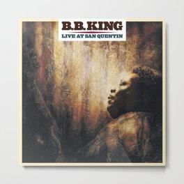 BB King Live At San Quentin CD Cover Metal Print