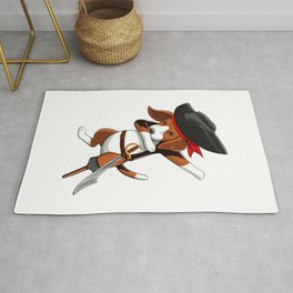Pirate Beagle Viking Novelty Halloween Rug