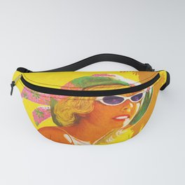 Los Angeles - Vintage Airline Travel Poster Fanny Pack