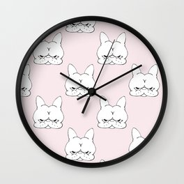 Frenchie Cringe Face Wall Clock