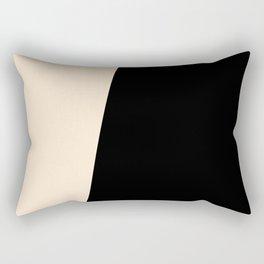 Stripes Black Beige Asymmetrical Rectangular Pillow