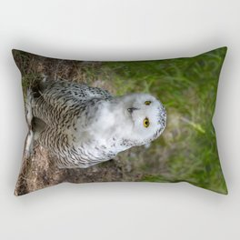 Alaskan Snowy Owl - Summer Rectangular Pillow