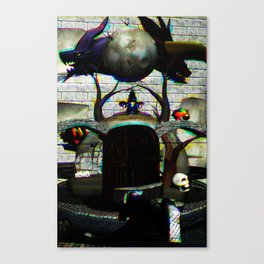 ٩(×╭╮×)۶ Canvas Print