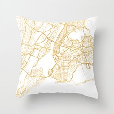 NEW YORK CITY NEW YORK CITY STREET MAP ART Throw Pillow