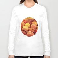macarons Long Sleeve T-shirts featuring paris macarons by AnnaGo