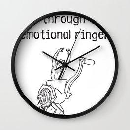 emotional ringer Wall Clock
