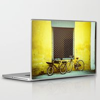 bicycles Laptop & iPad Skins featuring Bicycles by The Dalai Lomo