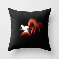 Spark Fire Throw Pillow