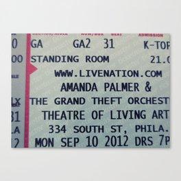 Amanda Palmer & the GTO: Standing Room Canvas Print