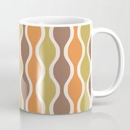 Classic Retro Ogee Pattern 846 Orange Brown and Olive Coffee Mug