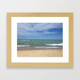 A Peaceful Moment At The Lake Framed Art Print