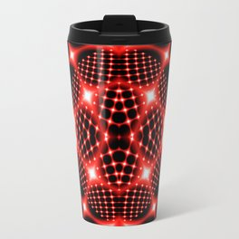 Neon red glob fractal Travel Mug