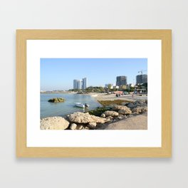 Coral Beach Park Framed Art Print