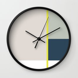 Nothing Is More Abstract Than Reality, Minimalism Print, Geometric Art Wall Clock