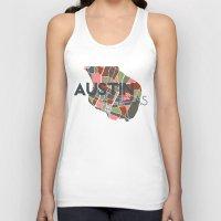 austin Tank Tops featuring Austin Texas + by Studio Tesouro