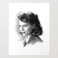 peggy carter Art Prints featuring Peggy by akasatana0807