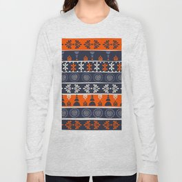 Boho Geometric Pattern Long Sleeve T-shirt