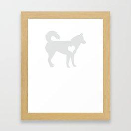 Adore Huskies Framed Art Print