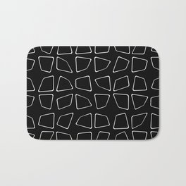 Changing Perspective - Simplistic Black and white Bath Mat