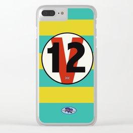 SRC Preparations Racecar Rebels: V12 British Clear iPhone Case