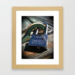 Siempre- Love Lock Framed Art Print