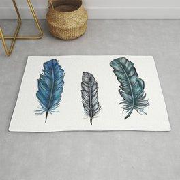 Three Feathers Rug