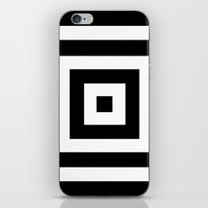 Abstract geometric pattern - black and white. iPhone Skin