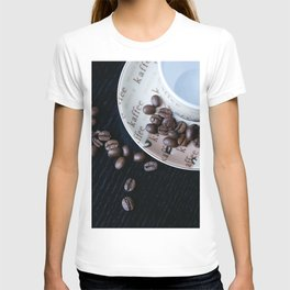 Coffee Cup with coffee Beans T-shirt