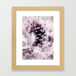 White Pine, Christmas Snowfall Framed Art Print