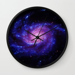 Spiral gAlAxy : Purple Blue Wall Clock