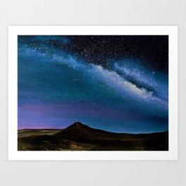 Milky Way Over Big Bend Art Print