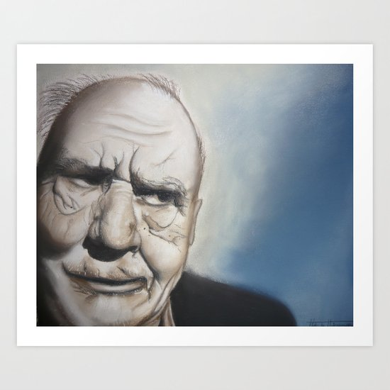 Elderly Man Art Print