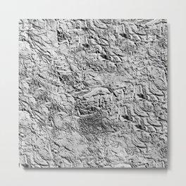 Textured White Metal Print
