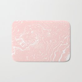Issey - spilled ink rose gold blush abstract painting pink marble cell phone case trendy gifts Bath Mat