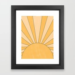 yellow abstract sunrise Framed Art Print