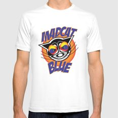 MadCat Blue Mens Fitted Tee White MEDIUM