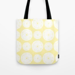 White Doilies w/ a Light Yellow Background (Style 1) Tote Bag