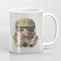 trooper Mugs featuring STRAWBEЯRY TROOPER by Beardy Graphics