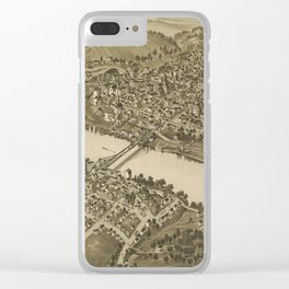 Vintage Pictorial Map of Fairmont WV (1897) Clear iPhone Case