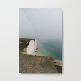 The Seven Sisters in South Downs, Seaford, East Sussex, England | Fine Art Nature Landscape Travel Photography | UK, Europe Metal Print