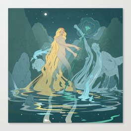 Nymph of the river Canvas Print