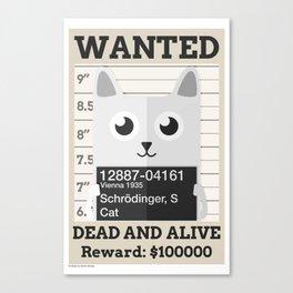 Schrödingers Cat Canvas Print