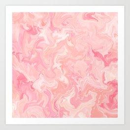 Blush pink abstract watercolor marble pattern Kunstdrucke