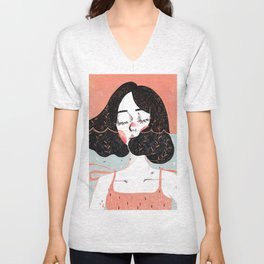 Drowning in Thoughts Unisex V-Neck