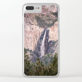 Sunset on Bridalveil Fall in Yosemite National Park Clear iPhone Case