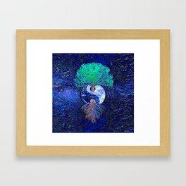 Tree of Life Yin Yang Earth Space Framed Art Print